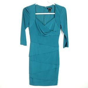 WHBM Tiered Sheath 3/4 Sleeve Dress